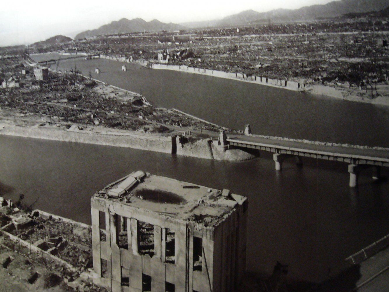 View from air after the bomb was dropped